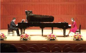 生徒さんとピアノ2台演奏